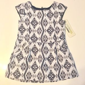 Toddler jacquard dress with pockets